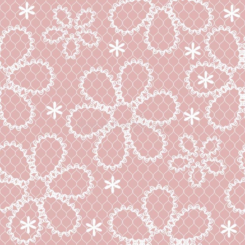 Vector seamless lace decoration pattern stock illustration