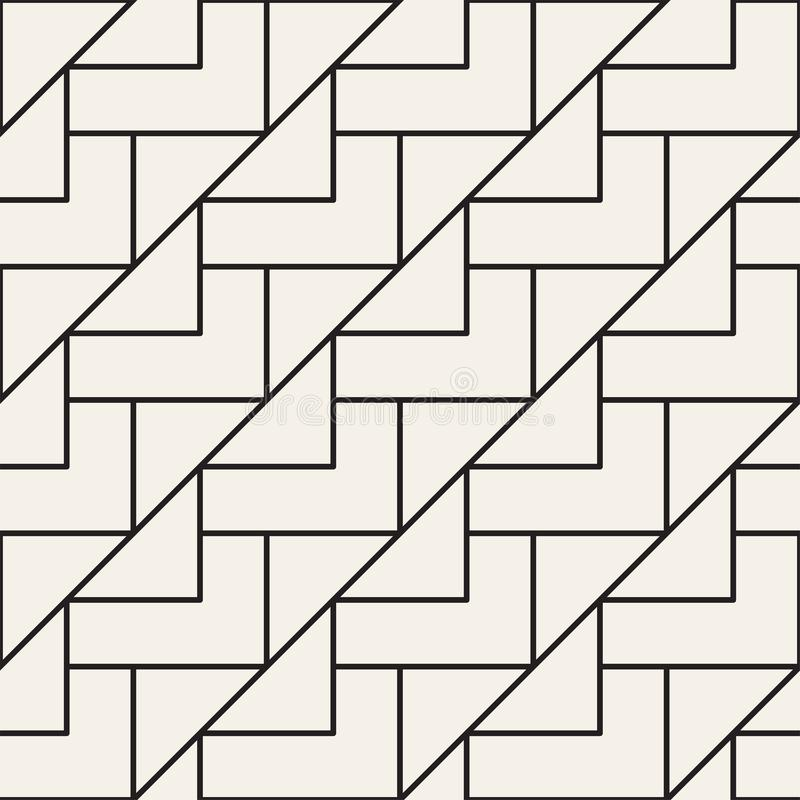 Vector seamless lattice pattern. Modern stylish texture with monochrome trellis. Repeating geometric grid. Simple design vector illustration