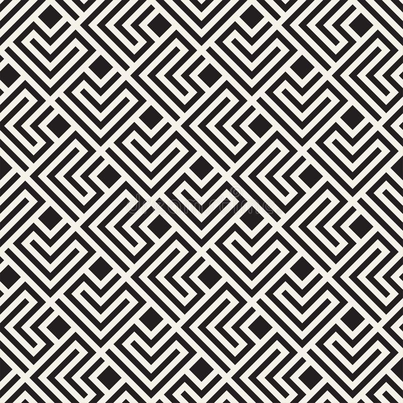 Free Vector Seamless Lattice Pattern. Modern Stylish Texture With Monochrome Trellis. Repeating Geometric Grid. Simple Design Stock Image - 110786301