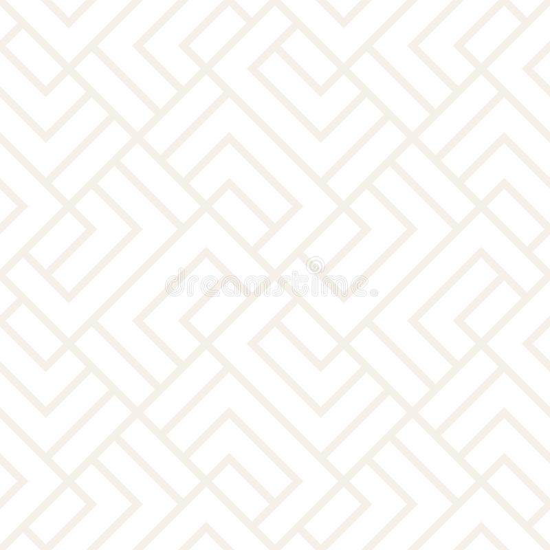 Vector seamless lattice pattern. Modern subtle texture with monochrome trellis. Repeating geometric grid. Simple design royalty free illustration