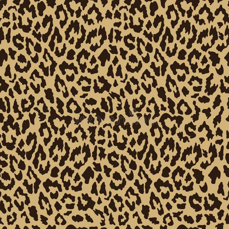 Vector seamless leopard pattern. Trendy background stock illustration