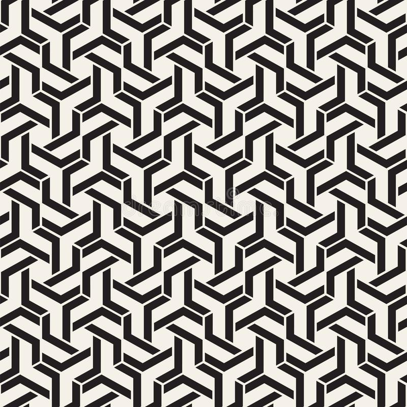 Vector seamless lines pattern. Modern stylish abstract texture. Repeating geometric tiles with stripe elements stock illustration