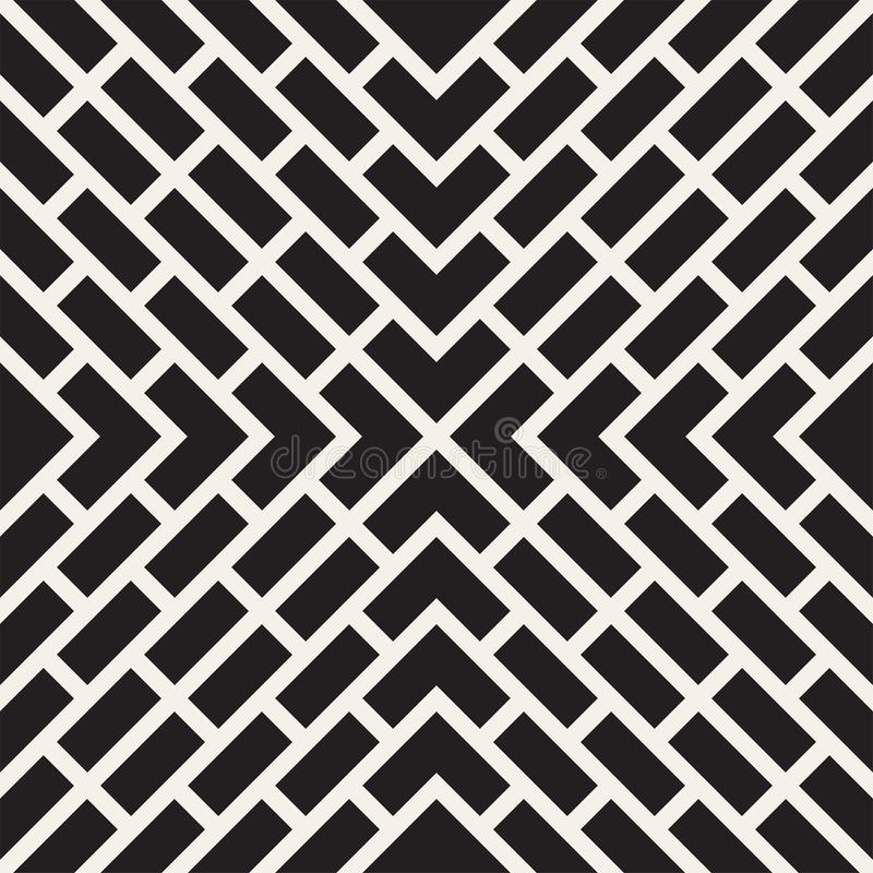 Vector seamless lines pattern. Modern stylish abstract texture. Repeating geometric tiles with stripe elements royalty free illustration