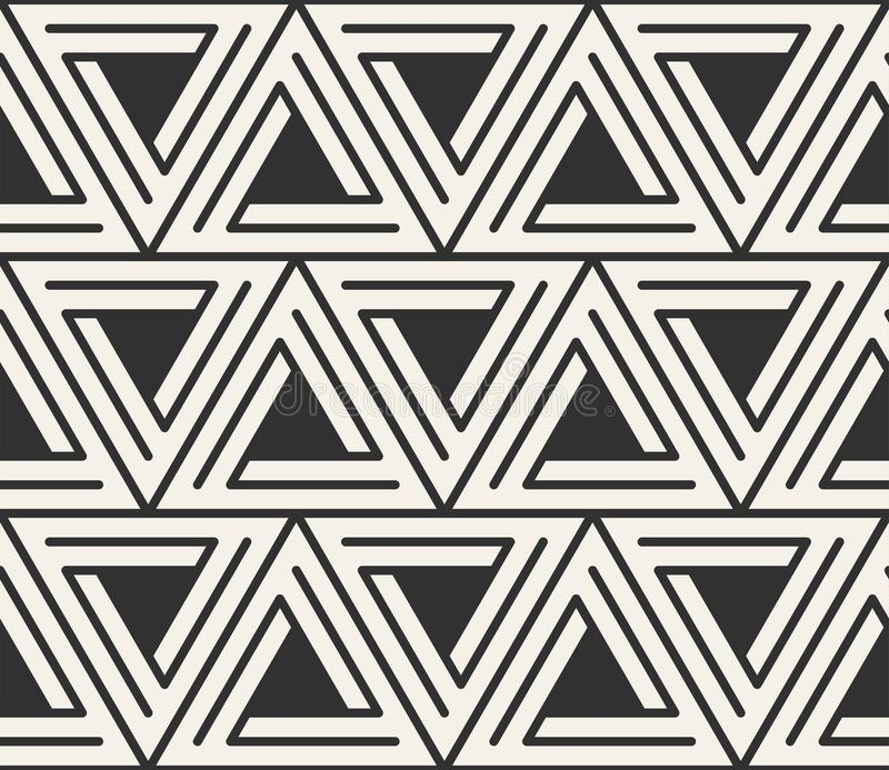 Vector Seamless Lines Pattern. Modern Stylish Triangle ...