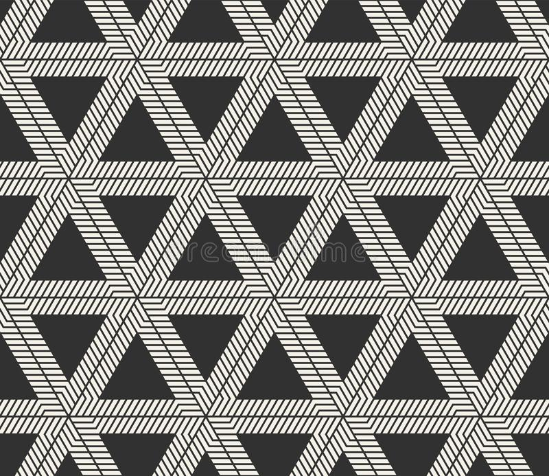 Vector seamless lines pattern. Modern stylish triangle shapes texture. Repeating geometric tiles. From striped elements stock photos