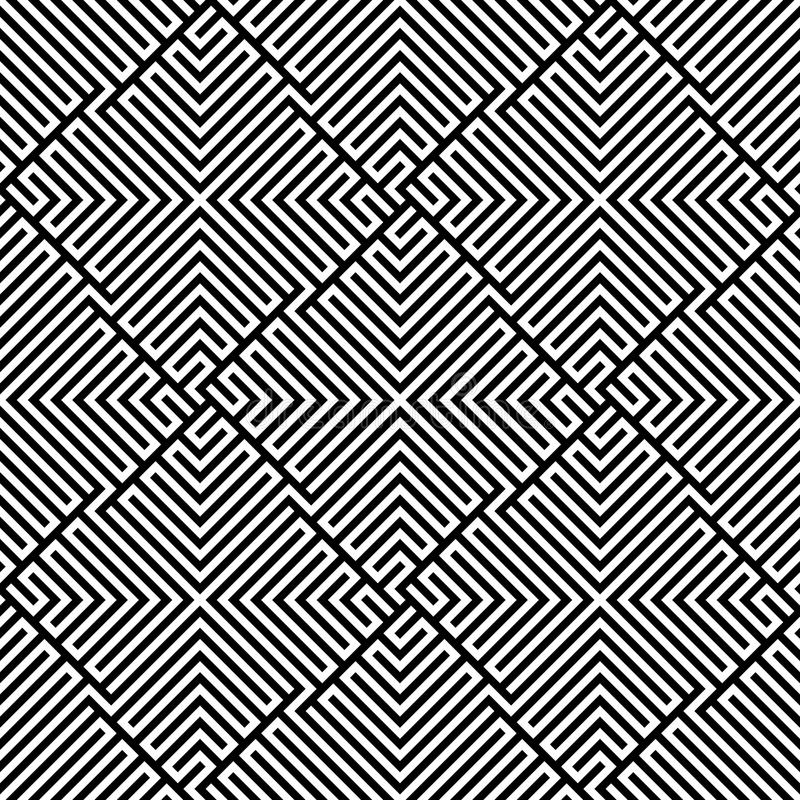 Download Vector Seamless Maze Pattern Stock Vector - Image: 15431058