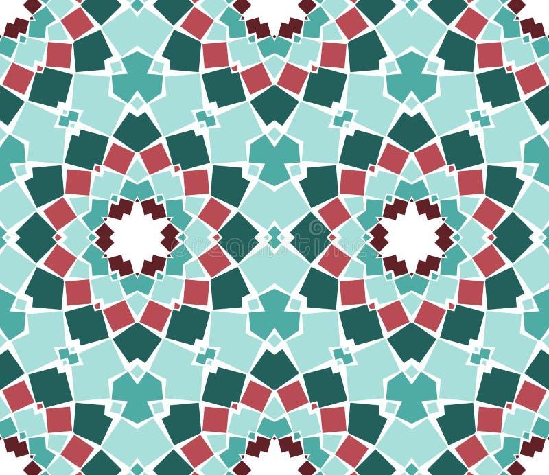 Vector Seamless Mosaic Ornaments Stock Photos