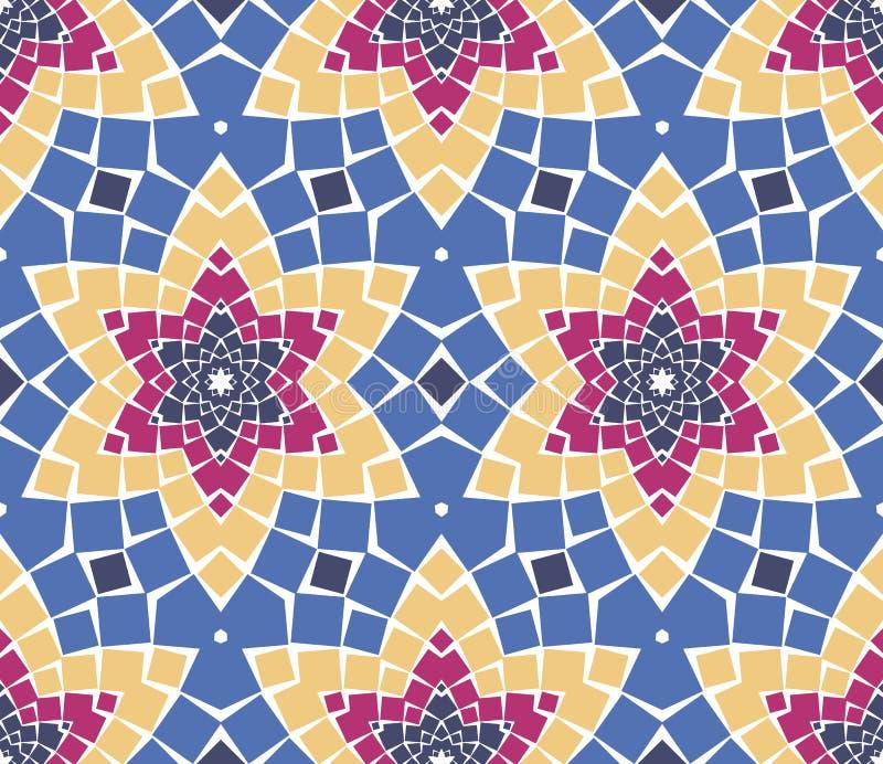 Vector seamless mosaic ornaments stock illustration