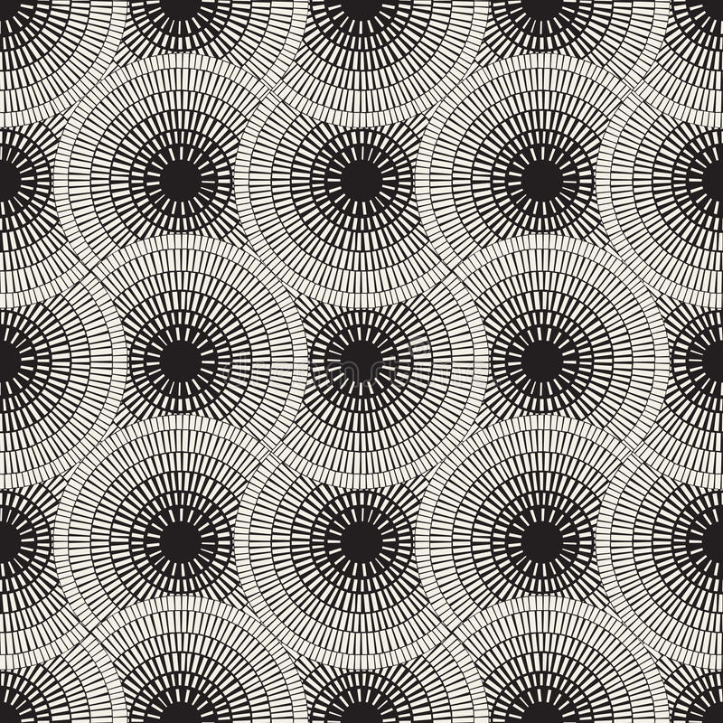 Vector Seamless Mosaic Pavement Pattern. Vector Seamless Black and White Mosaic Pavement Pattern. Abstract Geometric Background Design stock illustration