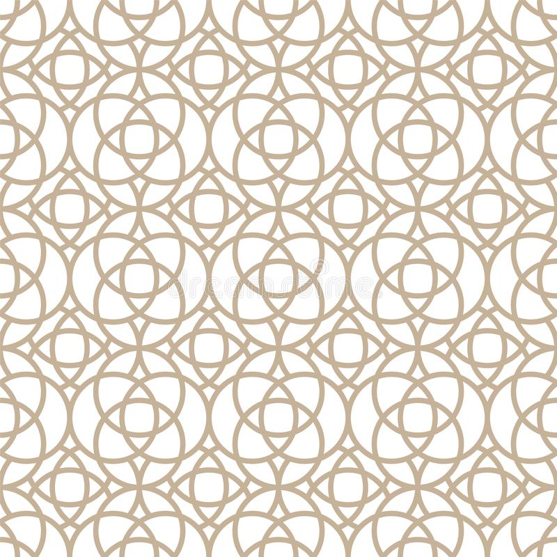 Vector seamless oriental pattern - simple geometric design. Abstract trendy eastern symmetric background. Creative. Luxury gold arabic texture stock illustration