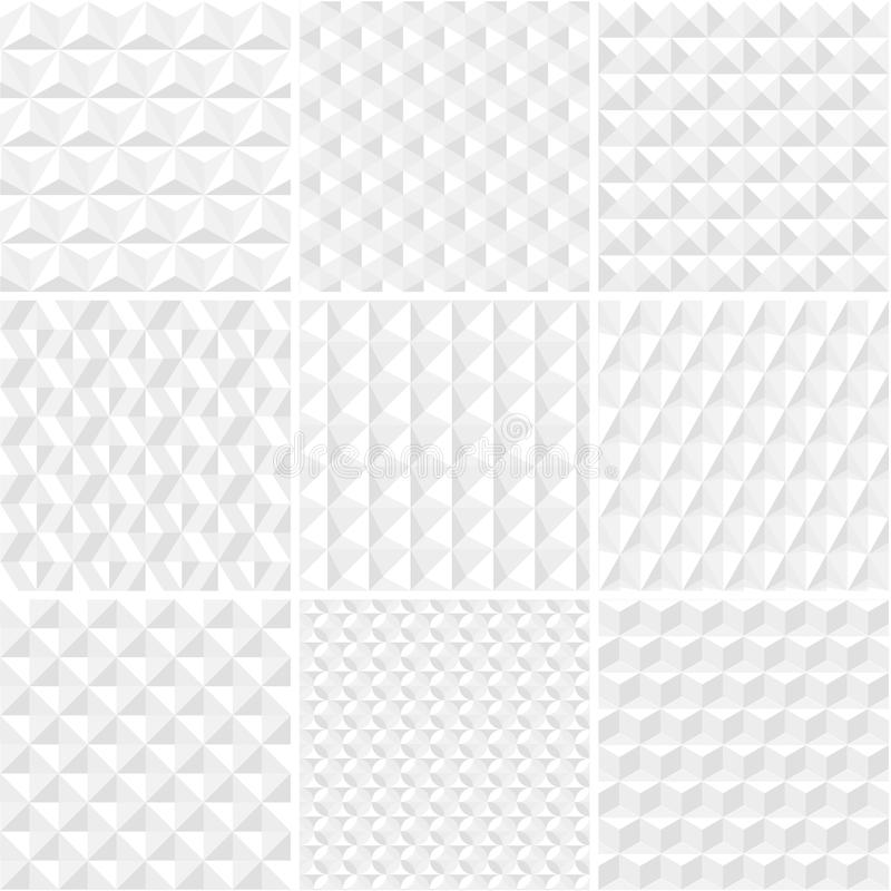 Vector seamless origami patterns collection stock illustration