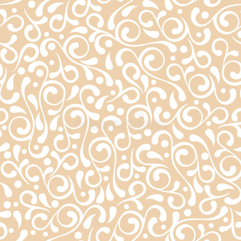 Vector seamless pastel beige flourish pattern. Vintage decorative background. Floral design for fashion print, backgrounds, greeting cards, holiday package and stock illustration