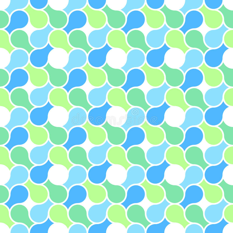 Vector seamless pattern - abstract blue & green pa vector illustration