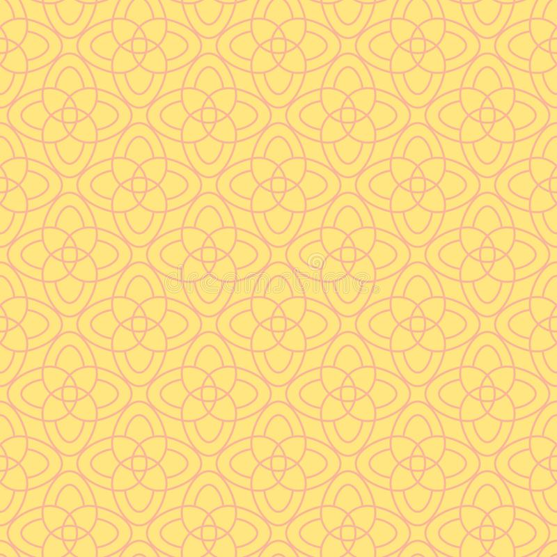 Vector seamless pattern of abstract flowers royalty free illustration