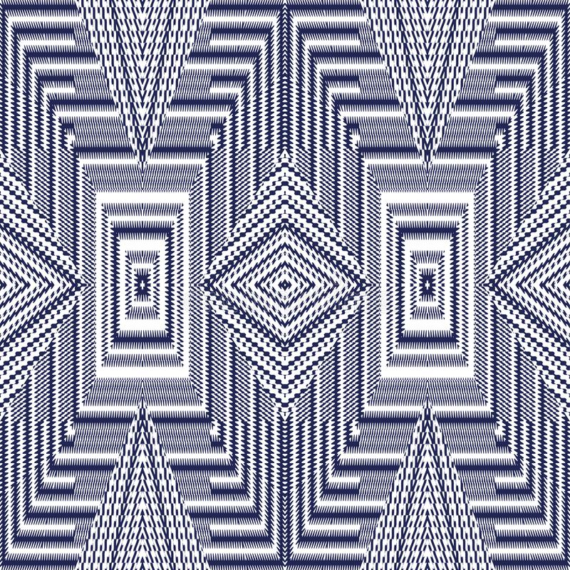 Vector seamless pattern, abstract geometric background illustration stock image