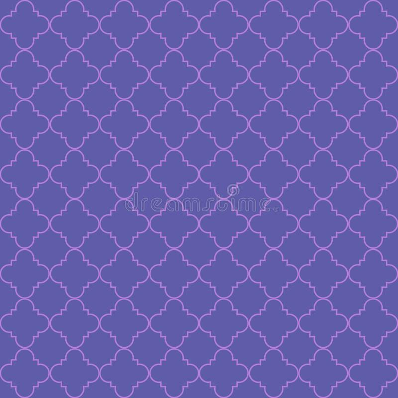 Vector seamless pattern of abstract geometric petals royalty free illustration