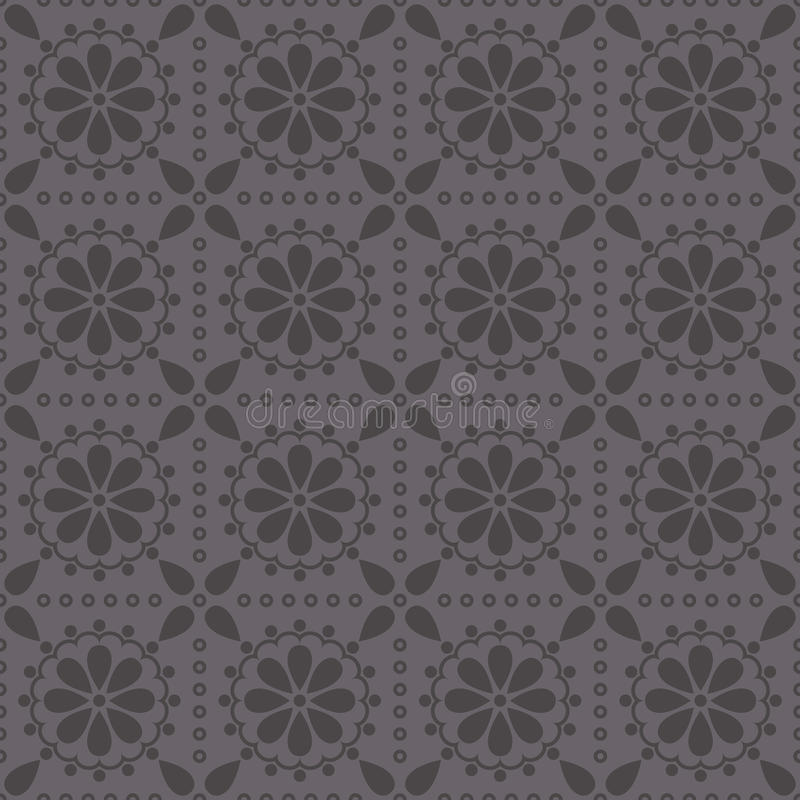 Download Vector Seamless Pattern With Abstract Rosettes Stock Vector - Image: 23635412