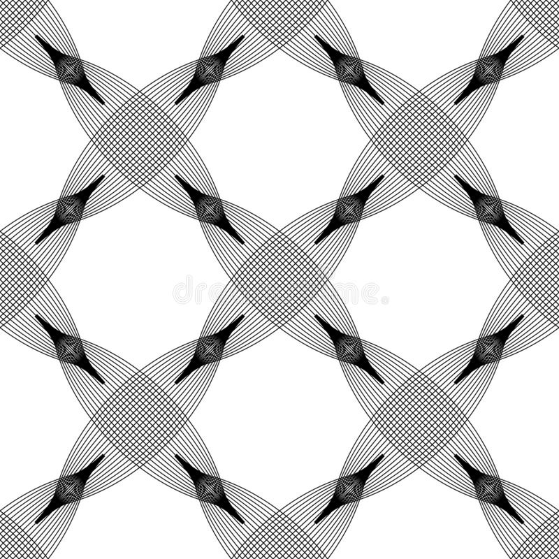 Vector seamless pattern. Abstract stylish background with stylized petals eps10 royalty free stock photography
