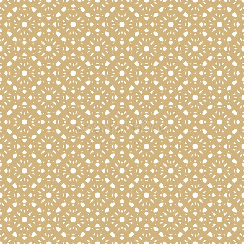 Vector seamless pattern in Arabian style. Golden geometric floral texture. vector illustration