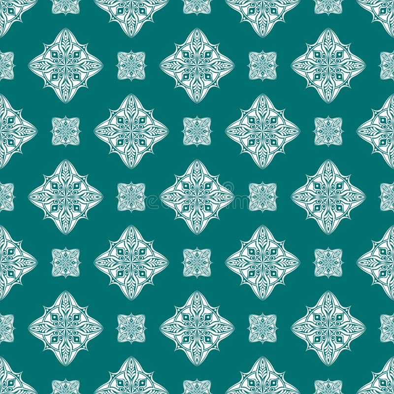 Vector seamless pattern background. Classical luxury old fashion royalty free illustration