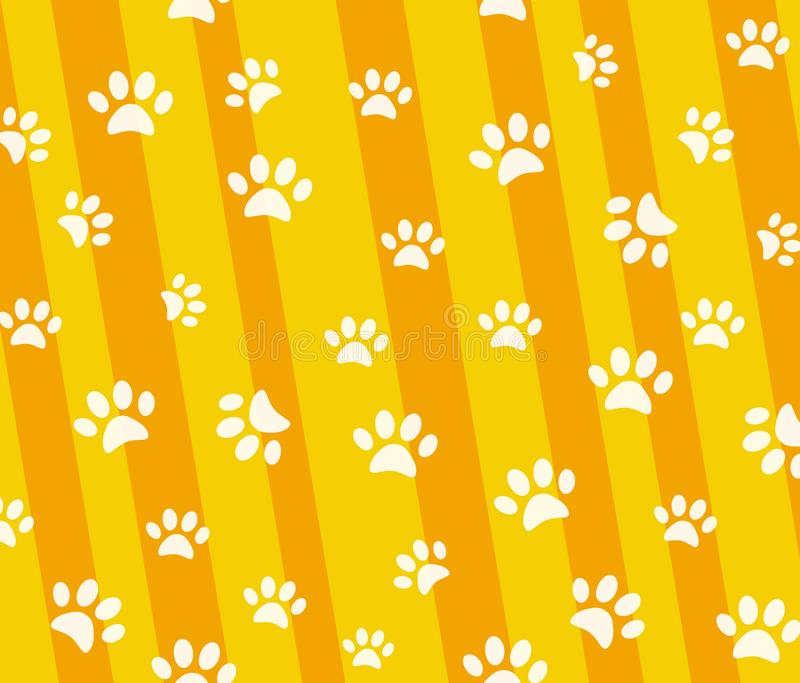 Vector seamless pattern and background with icons footprint to c royalty free illustration