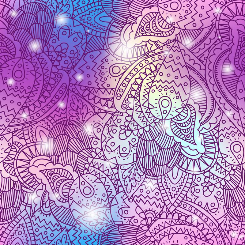 Unicorn color gradient seamless pattern royalty free illustration
