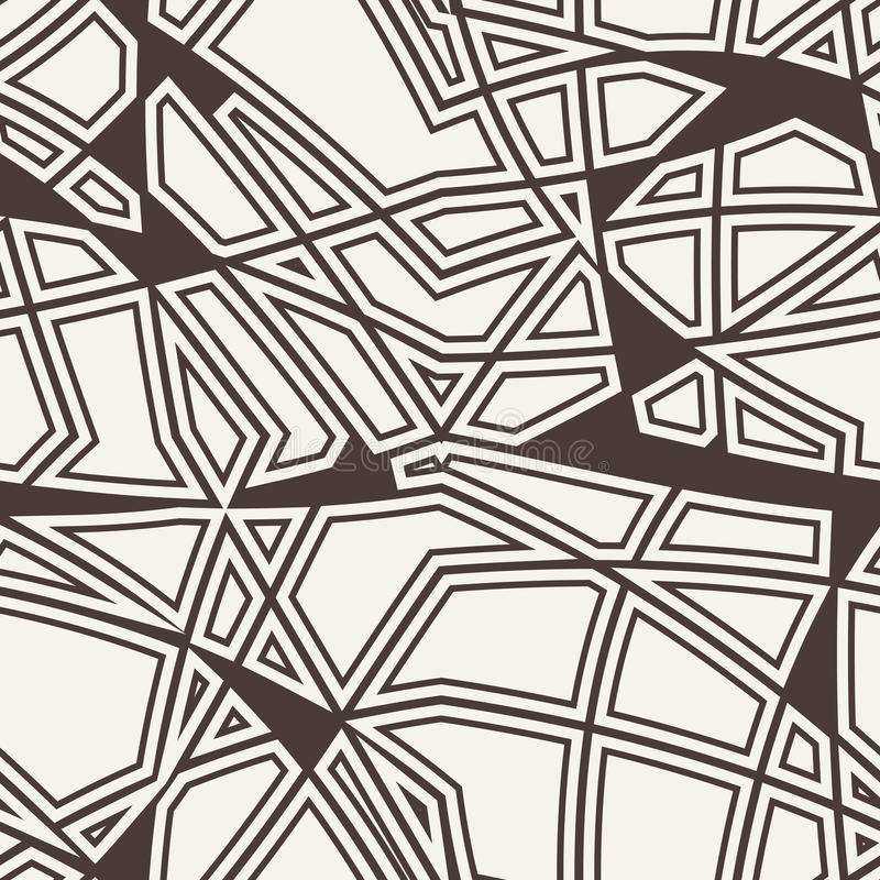 Vector seamless pattern. Black and white abstract background. stock illustration