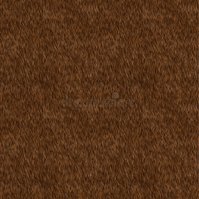 Vector Seamless Pattern. Brown Fur Background. royalty free stock photos