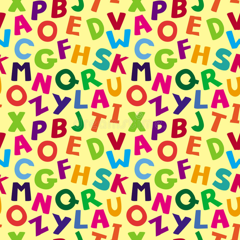 Download Vector Seamless Pattern With Cartoon Letters Stock Vector - Image: 30058818