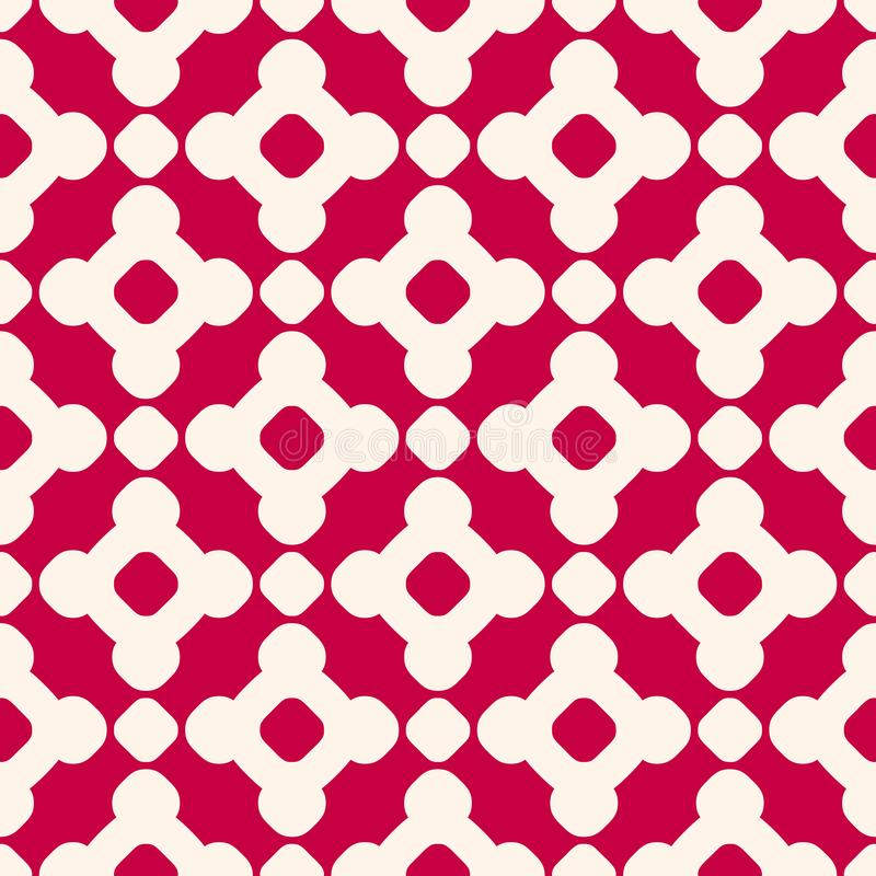 Vector seamless pattern in Chinese style. Red and beige geometric ornament. royalty free illustration