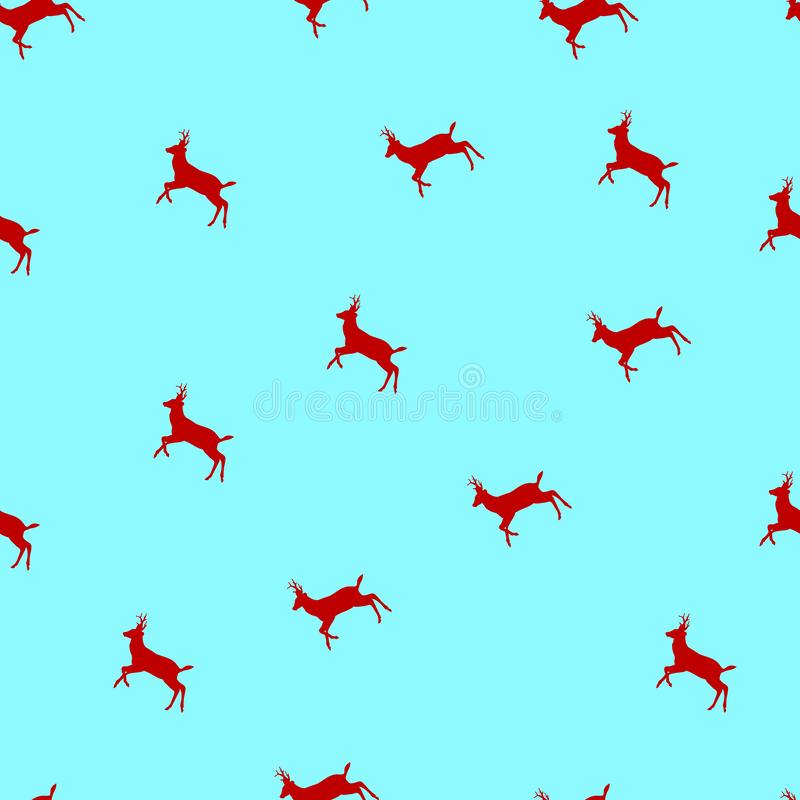 Vector seamless pattern with Christmas deers a stock illustration