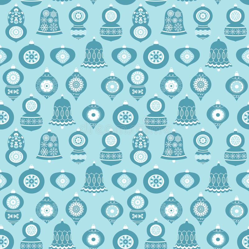 Vector seamless pattern with Christmas ornaments royalty free illustration