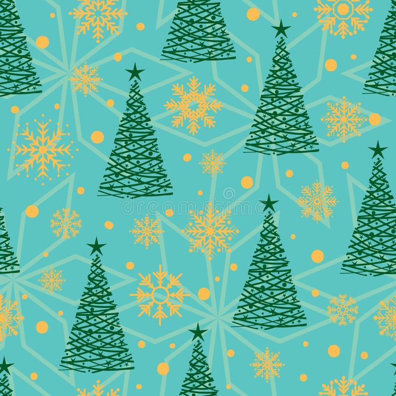 Seamless pattern with Christmas elements royalty free stock photos