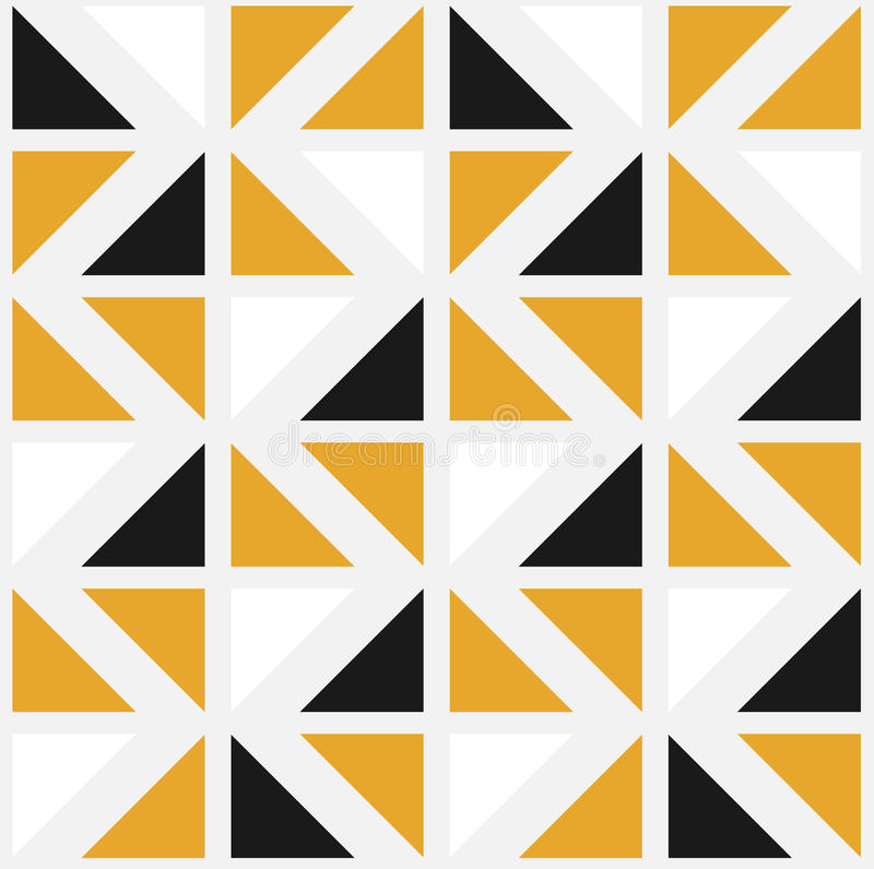 Vector Seamless Pattern with Color Triangles vector illustration