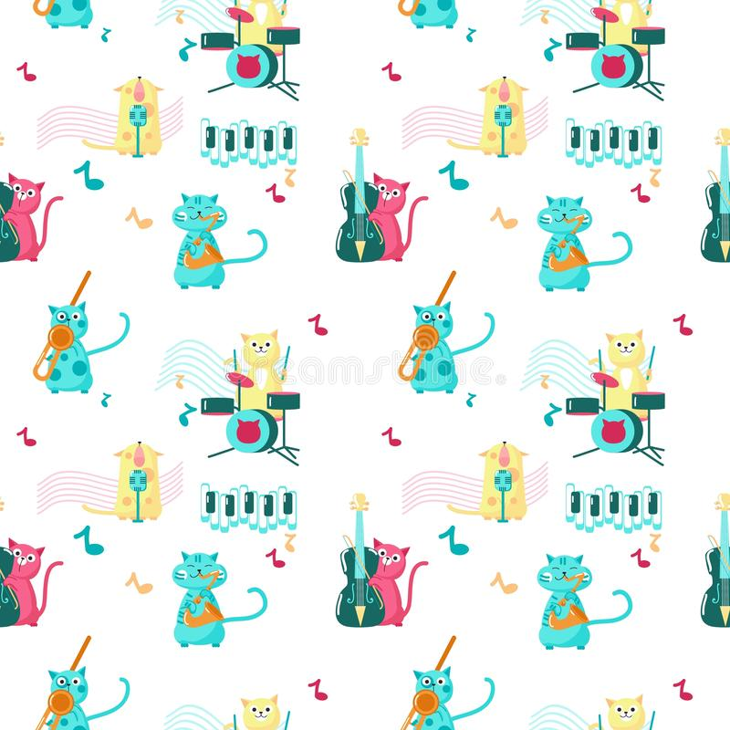 Vector Cats And Music Stock Illustration Illustration Of Note 4584249