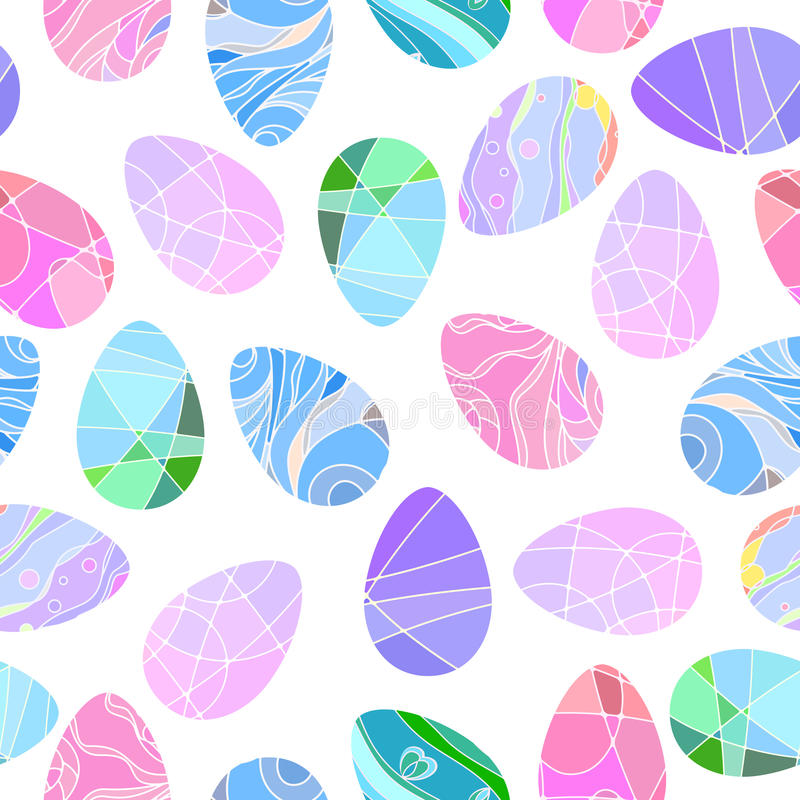 Vector seamless pattern with Easter eggs. Simple and modern pattern stock illustration