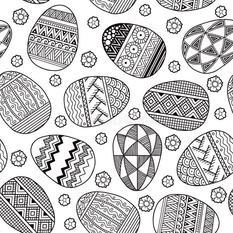 Vector Seamless pattern Easter eggs vector illustration