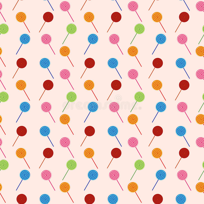 Vector seamless pattern with elements of candy (lollipop) vector illustration