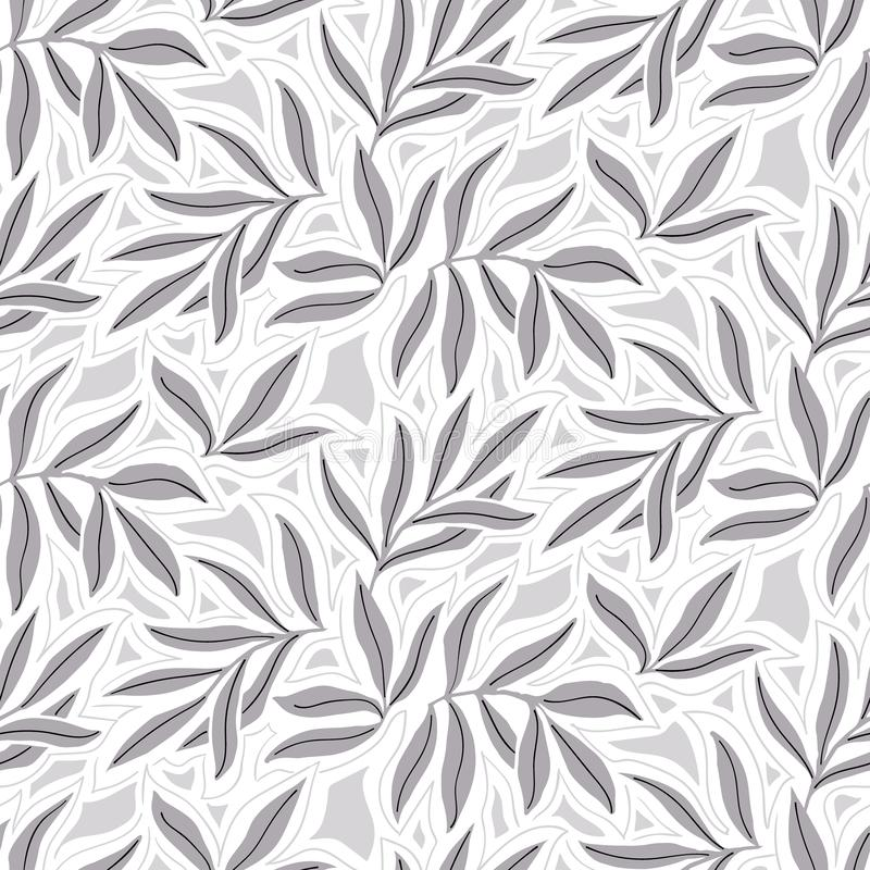 Vector seamless pattern with fall leaves. Elegant modern autumn background. Bold vintage print with leaves on white background for autumn fall fashion stock illustration