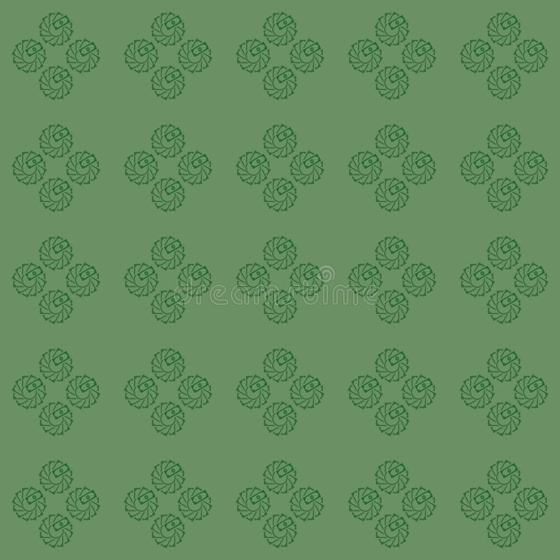 Vector seamless pattern of flower made creatively from money illustration royalty free illustration