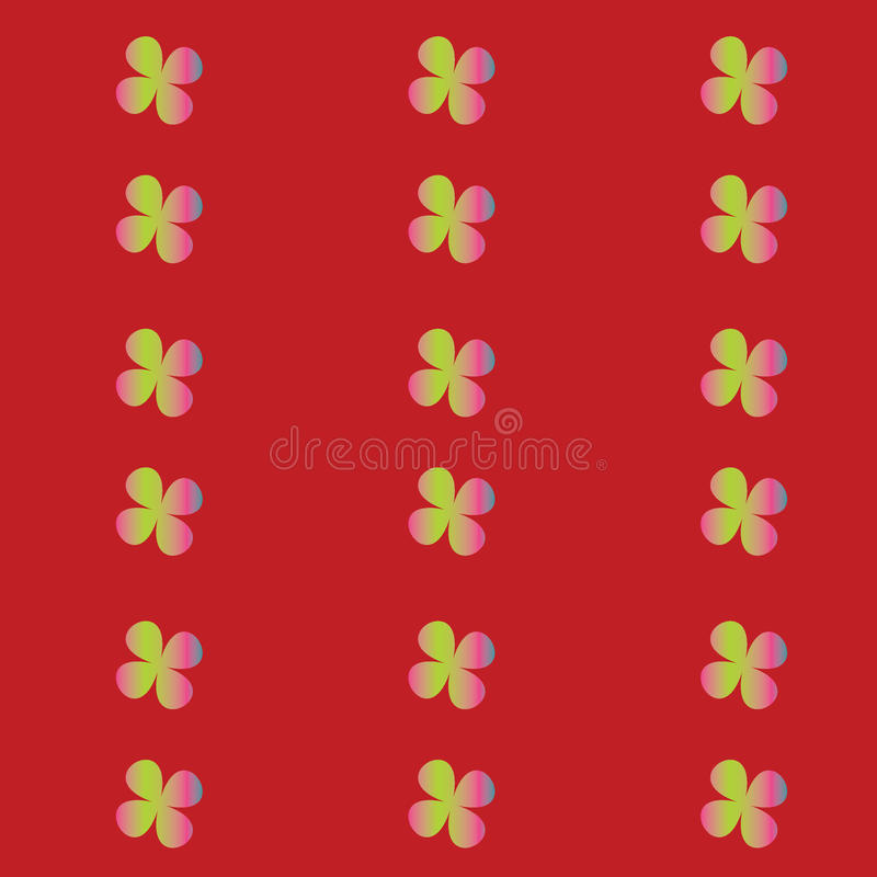Vector seamless pattern with flowers. Bright royalty free illustration