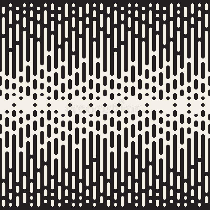 Vector seamless pattern with geometric spots. Monochrome random line streaks. Contrast repeating background design. Vector seamless pattern with geometric spots vector illustration