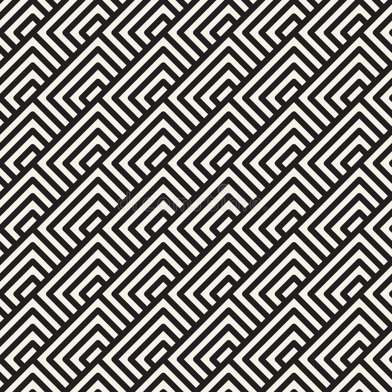 Vector seamless pattern. Geometric striped ornament. Simple lattice lines background. Vector seamless stylish pattern. Geometric striped ornament. Simple vector illustration