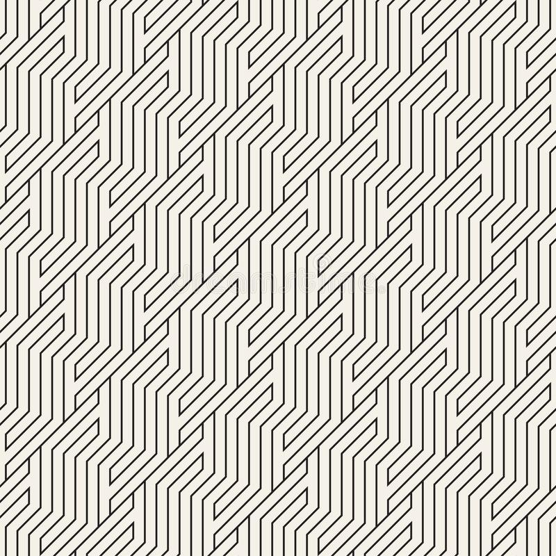 Vector seamless pattern. Geometric striped zigzag ornament. Simple slanted lines background. Vector stylish seamless pattern. Geometric striped zigzag ornament vector illustration