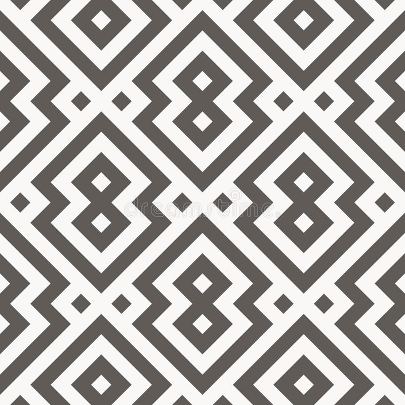 Vector seamless pattern. Geometric texture. royalty free illustration