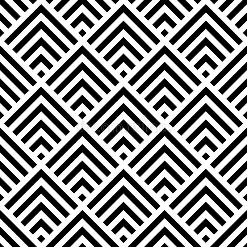 Vector seamless pattern. Geometric texture. royalty free stock photography
