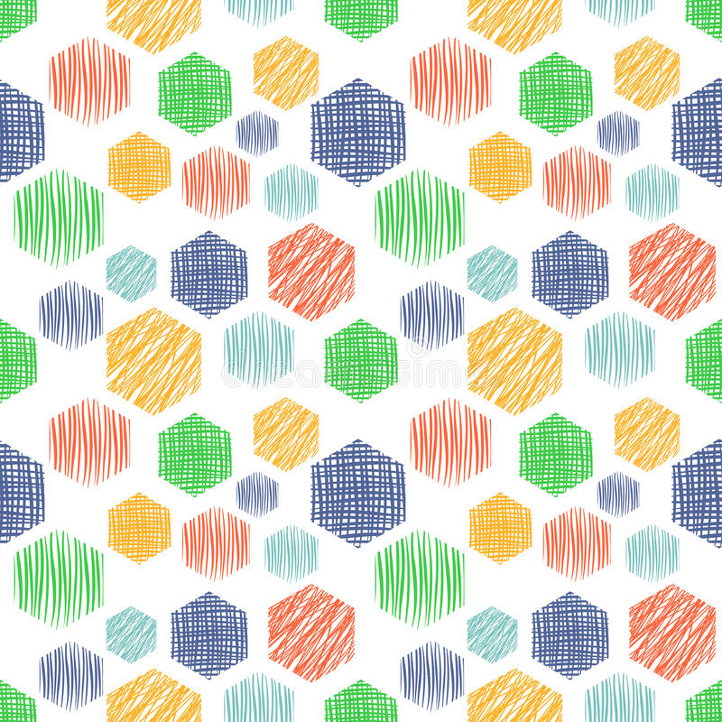 Vector seamless pattern, graphic illustration stock illustration