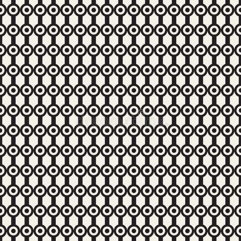 Vector seamless pattern. Graphic linear streaks with dots. Vector seamless pattern. Repeating abstract background with circles. Graphic linear streaks with dots stock photography