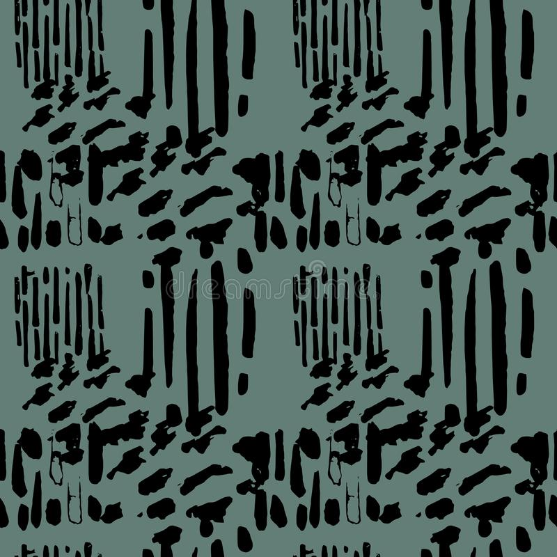 Vector seamless pattern with grunge hand drawn texture vector illustration