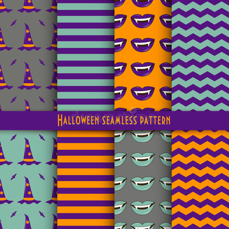 Vector seamless pattern for Halloween in the traditional colors of the holiday. vector illustration